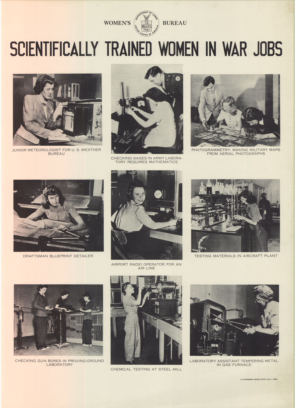 United we will win poster information scientifically trained women in war jobs malvernweather Images