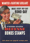 """Wanted- Fighting Dollars- United States Defense Bonds Stamps"""